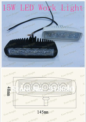 Super bright!!! High quality!!! 15w Aluminum off-road led work light bar/DRL(China (Mainland))