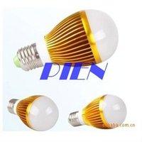 Wholesale Global Bulb 3W Dimmable E27| E14 |GU10 LED Lamp Bulb Light 85-265V Cool |Warm White Free Singapore Shipping 3pcs/lot