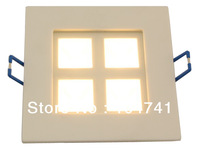 DHL free shipping Newest product 4w square recessed Led ceiling light/Led grille light,size:105mm*105mm
