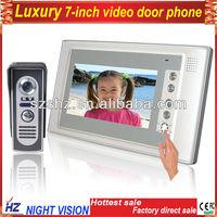 "Free shipping 7"" video door phone LCD Monitor Video DoorPhone Cmos Night vision Camera video intercom system Video Door Bell"