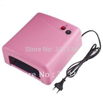 1Pcs UV Curing Lamp Light Lamp Gel Nail Art Dryer 220V EU Plug 36W