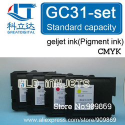 [KLD Inkjets]X4PCS GC31 compatible Geljet ink [Pigment ink] cartridge for Ricoh e3300 e3300N e3350N e5050N e5500 e5550N e7700(China (Mainland))