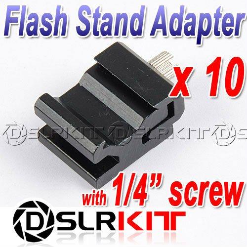 "10pcs/LOT Hot Shoe Flash Stand Adapter with 1/4""-20 Tripod screw(China (Mainland))"