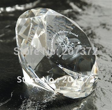 Free shipping, 5025,Beautiful 80mm Crystal round diamond with 3d laser,Promotional gift, 20Pcs/lot, Wholesale and relail by DHL(China (Mainland))