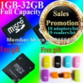 Free shipping ,Full capacity,tf card 2g/4gb/8gb/16gb/32gb  ,with card reader and adpater , high speed TF card,well packing !