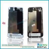 Back cover assembly for iphone 4s back housing ,20pecs/lot,DHL or UPS free shipping ,Black or white