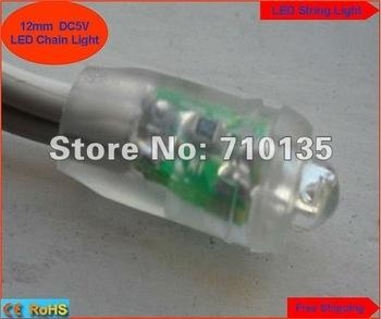 Waterproof DC5V diameter 12mm LED Module LED string light Highlight Superflux RED GREEN BULE YELLOW WHITE 400pcs free shipping