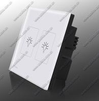 wireless remote control wall light switch, two way crystal glass wireless switch