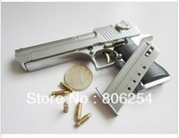 Free shipping  1/2.5 metal simulation Desert Eagle handgun  police pistol toy gun model