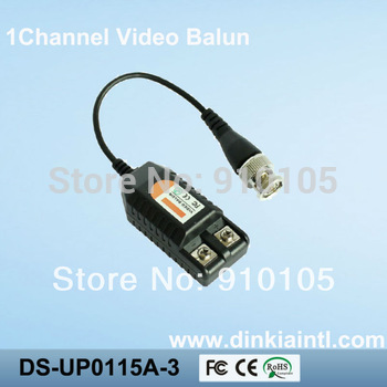 Promotion 1 channel passive video CCTV balun,super anti-Jamming capability, approved by CE FC ROHS certificate,       DS-UP0115A