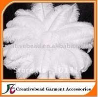 30-35 cm White color ostrich plume feathers +free shipping