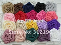 """Free shipping!240pcs/lot 1.5 """"  Rosettes DIY rose accessories /satin silk flower /rosettes hair accessories"""