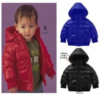 free shipping, factory direct! Male and female baby clip cotton thick padded jacket with detachable cap, red(5PCS/lot)