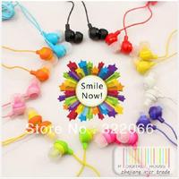 free shipping 10pcs/lot Lose money promotion12 colors to choose fruit smile earphone in ear headphones & headphones earphones