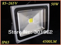 4pcs/lot  Hot sale! 50W IP65  High Power Waterproof LED Wash Flood Light , 85-265V 4500LM LED Projection Outdoor Lamp