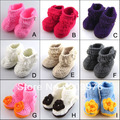 6 colors fashion lace rose Baby Shoes Soft Sole with Flowers 3pairs /lot Free Shipping