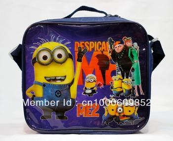 Despicable me Kids Cartoon Lunch Box Set Nylon Cartoon Lunch bag /Despicable me lunch bag