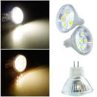GU4 / MR11 6 SMD LED lamp 5050 chip High Power Lamp Bulb SPOTLIGHT BULB LAMP PURE WHITE & WARM WHITE AC 12V