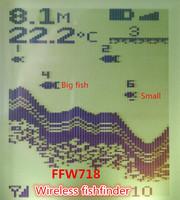 Russian Menu Language Wireless Sonar Sensor River Lake Sea Bed Live Update Contour 131ft / 40M Fishfinder Fish Finder ffw718