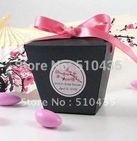 Free shipping!black take out box/candy box/chocolate box