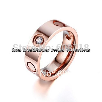 Timeless 18K Rose Gold Fashion Ring,Vintage Romantic Designer Ring,With Exquisite Clear Zircons,Bless Your Heart Warm Forever