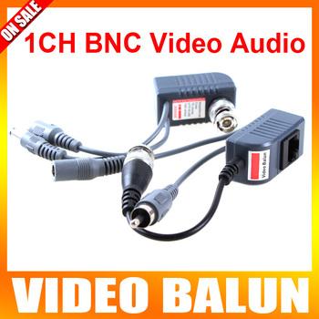 5Pairs CCTV Video Audio Power Balun Active UTP Transceiver Video Balun CCTV Accessories