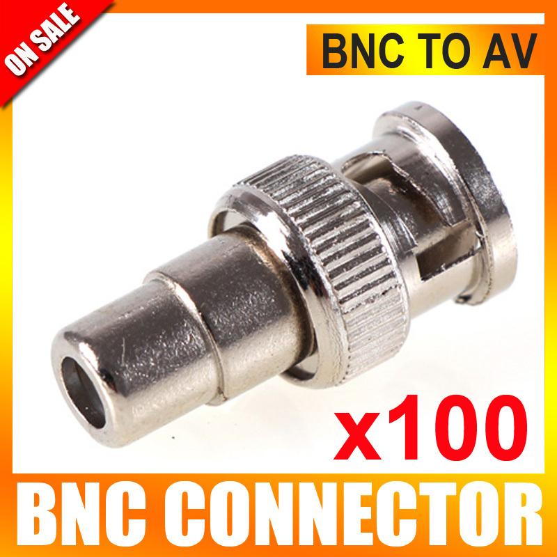 Аксессуары для видеонаблюдения UNITOPTEK 100Pcs/lot BNC BNC RCA BNCRCAM-F-100 кабель orient для камер видеонаблюдения cvap 20 видео bnc аудио rca питание 20 м oem