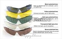 Moto Goggles! TOPONE Sports Sunglasses Polarized Sunglasses 19COLORS Frame Available Earsocks Blue Iridium Lens SOG008