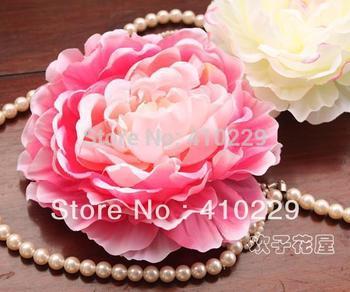DIY Hair Clip Peony Head without Clip,Artificial Flowers,Garment 4 Colors 20pcs/lot AF039