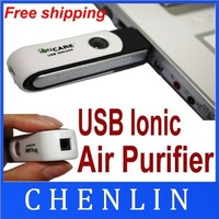 Wholesale free shipping  200PCS/LOT  USB Silent Ionic Ionizer Fresh Ozone Air Purifier PC LP SELLING