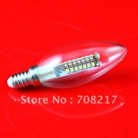 Free Shipping  Dimmable  CREE E27 5W Clear Cover / Frosted Cover LED Candle Light