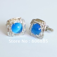 Guarantee 100% Genuine alloy opal cufflinks,Electroplated colors,Designer sleeve button+Free custom shapes