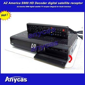 AZ America AZBOX S900,  digital tv satelite receptor, free shipping, original hd  digital tv receptor, support Nagra3 sharing