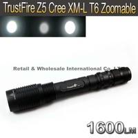 TrustFire Z5 Cree XM-L T6 1600LM Zoom LED FlashLight Torch