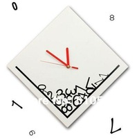 qt001  Retail and Wholesale 1pcs Creative Time Dropping Digital Wall Clock/wall clock movement mechanism/wall digital clock