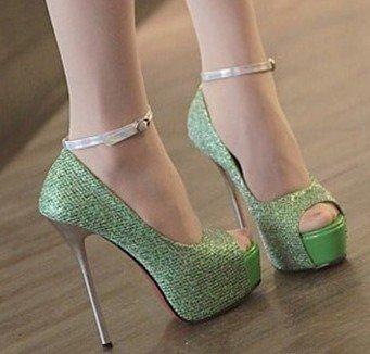 Vogue Обувь, женщина сексуальная насосы, тонкие высокие каблуки, насосы, Ночной клуб Сексуальная леди обувь, пряжки heorshe