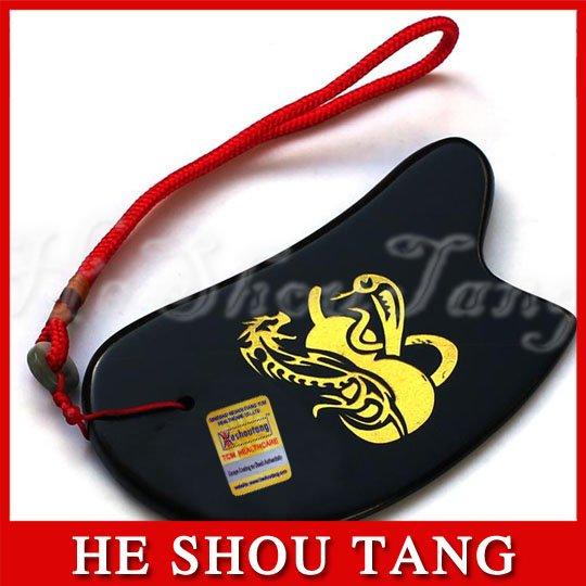 Free shipping Energy Stone/Guasha Plate/Black Dragon/ treat cervical spondylosis, Insomnia, Fatigue, dizziness,constipation,(China (Mainland))