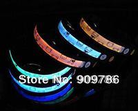 40pcs/lot free shipping  high quality LED dog collar flashing light up pet collar, Nylon webbing + 7 colors