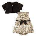 Two-pieces set:coat+dress Girls dress/Baby Girls suit size:80 90 100