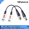 Twisted Video Balun passive Transceivers CCTV DVR camera BNC Cat5 UTP security 10pairs