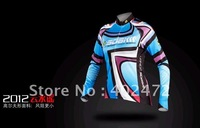 2012 SOBIKE New Arrival SOBIKE Women&#39;s Cycling Summer Long Jersey Wind Coat Jacket /cycling jerseys blue and red color