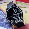 Hot Free Shipping 1pcs WoMaGe 9678-1 PU Leather Band Analog Electronic Watches For Women black