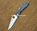 Navy K631 Police 440c Blade G10 Handle Hunting Camping Pocket EDC Folding Knife w/ Money Clip & Camo Draw String Bag
