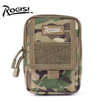 Rogisi  Cordura Bag MOLLE Handbag Military Equipment Army Bag Color:Black /Coyote Brown/Khaki/ACU/CP Camou Size:11CM*5CM*17CM