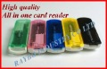 50pcs high quality usb 2.0 All in one card reader wholesales and retail without  retail packing