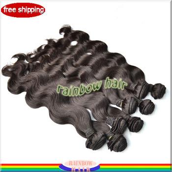 "16""~24"" top quality virgin brazilian body wave  5pcs/lot 100% virgin  hair weft  free shipping"