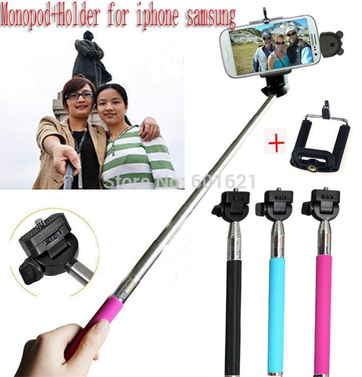 Portable Tripod for Digital Camera Camcorder NIB Photo Equipment Monopod +Holder clip for iPhone Samsung(China (Mainland))