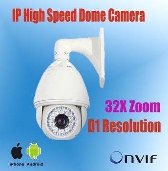 32X Optical Zoom H.264 PTZ IR High Speed Dome IP Camera Outdoor+200M IR Distance+Two Group IR Leds, etwork ip camera ptz,NP9600