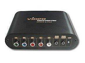 7600 Component Video YPbPr to VGA Converter (Black) Free Shipping(China (Mainland))