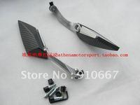 carbon fiber ,aluminum alloy, rhombohedron  motorcycle rearview mirror ,motor reflector,